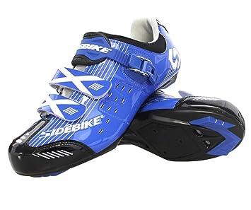 Zapatillas de ciclismo de carretera, zapatillas de ciclismo antideslizantes para hombres, transpirables y antideslizantes