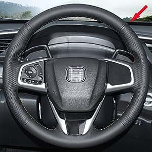 eiseng diy stitch on wrap genuine leather car steering wheel cover for 2016 2017. Black Bedroom Furniture Sets. Home Design Ideas
