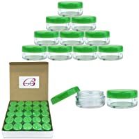 50 New Empty 5 Grams Acrylic Clear Round Jars - BPA Free Containers for Cosmetic...