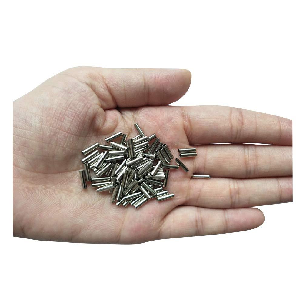 優先配送 LikeFish 100個 シングルバレル銅クリンプスリーブ 100個 釣り糸コネクタ B07GTTFSW1 6サイズ (2.0mm10mm-100個) (2.0mm10mm-100個) B07GTTFSW1, ショップインバース:24dacf79 --- a0267596.xsph.ru