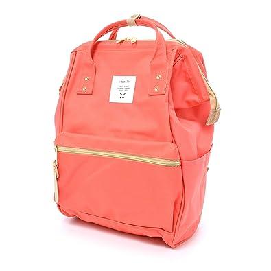 d3af32a02d7 Image Unavailable. Image not available for. Color: Anello Official Orange  Pink Japan Fashion Shoulder Rucksack Backpack Tablet Diaper Bag Unisex