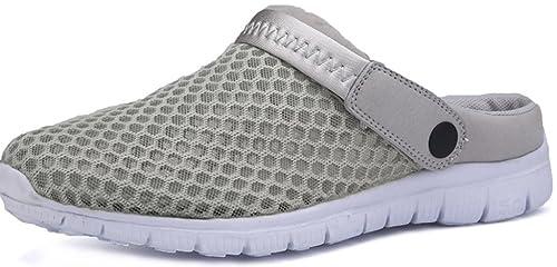 15b835c011394 Eagsouni™ Unisex-Erwachsene Breathable Mesh Hausschuhe Sandalen Freizeit  Clogs und Pantoletten Schuhe Sommer,