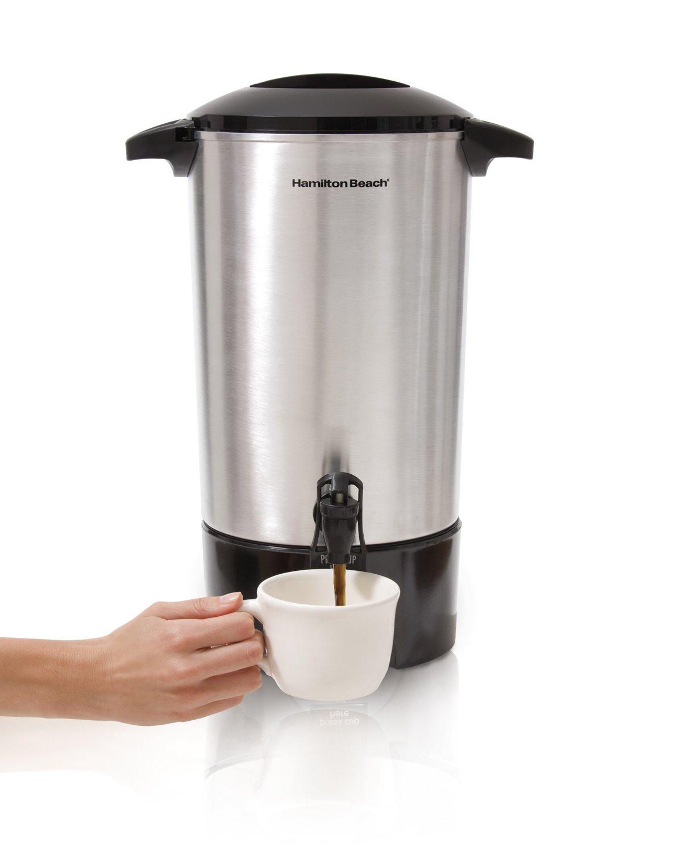 Hamilton Beach 40516 40516R 45 Cup Coffee Urn Stainless