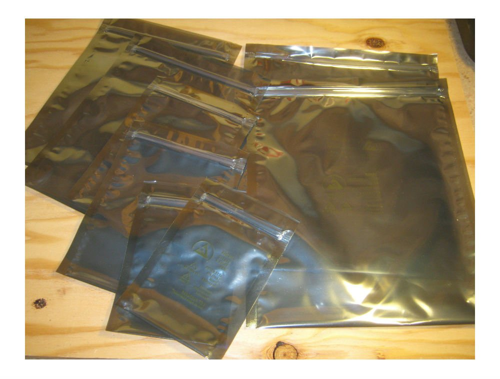 FARADAY CAGE ESD BAGS - 12 BAGS IN 6 ASSORTED SIZES - Survivalists Preppers