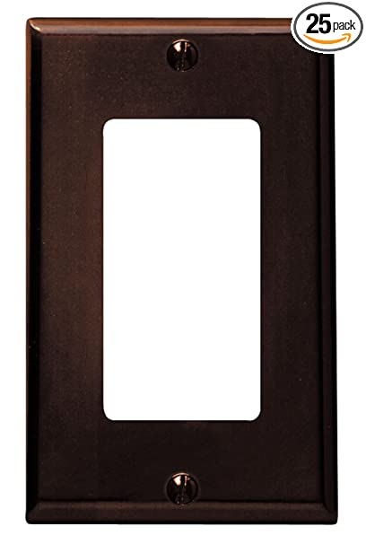 decora wall plates electrical wall leviton 80401 1gang decora wall plate 25pack brown amazoncom