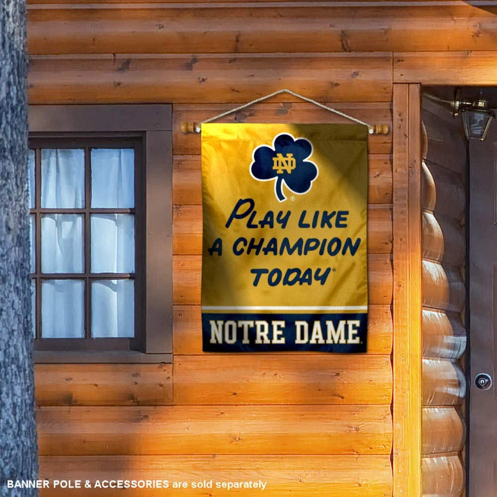 WinCraft Notre Dame Fighting Irish Play Like A Champion Today Sleeve Banner Flag