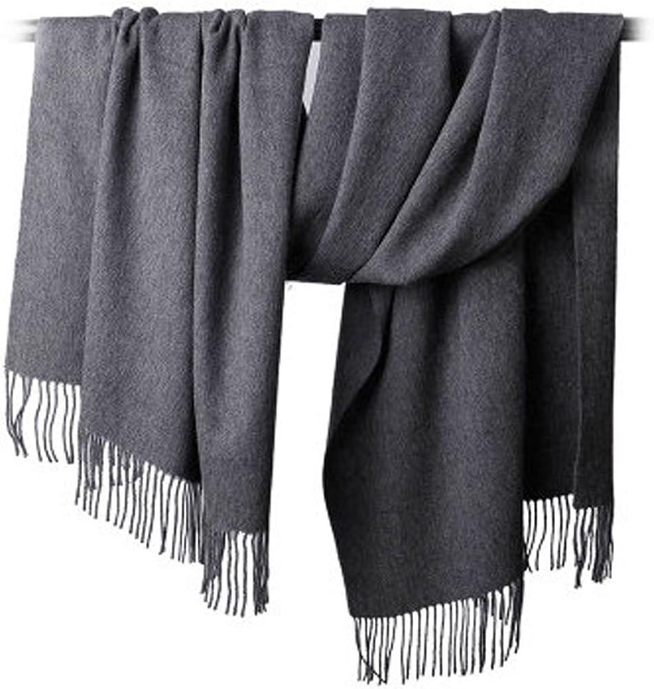 Solid Color Wool Scarf Elegant Warm Soft Long Scarves Shawl Pashmina