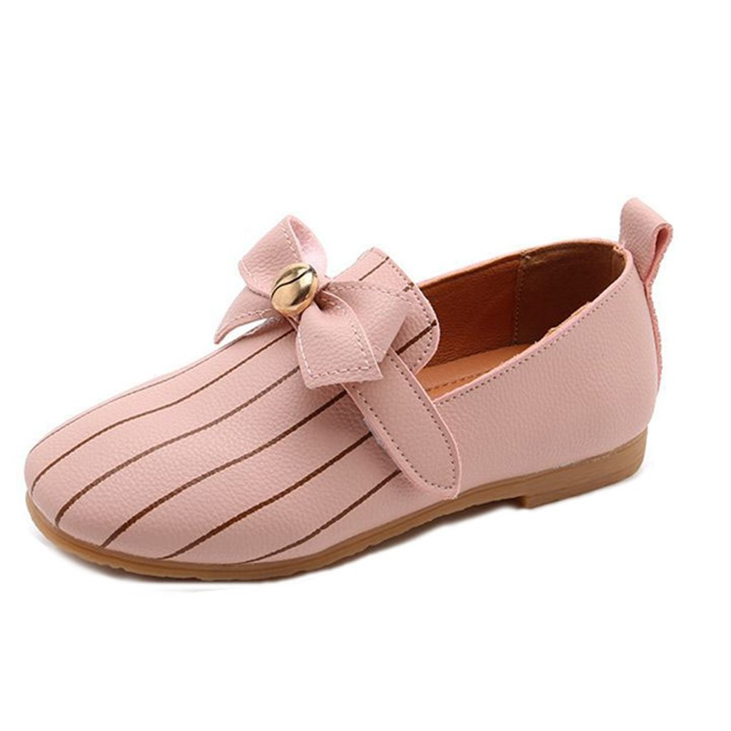 Kids Slip-On Loafers Oxford Dress Bowkont PU Flat Shoes For Girls (Toddler/Little Kid)