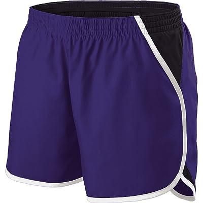 Holloway Sportswear Girls Energize Shorts. 229425 Purple / Black / White XL