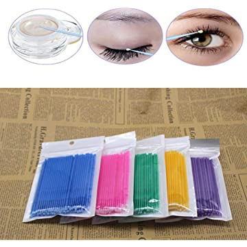 DREAMVAN Eyelash Cotton Swabs Microblading Micro Brushes Swab Lint Free Tattoo Permanent Supplies Cotton Swabs