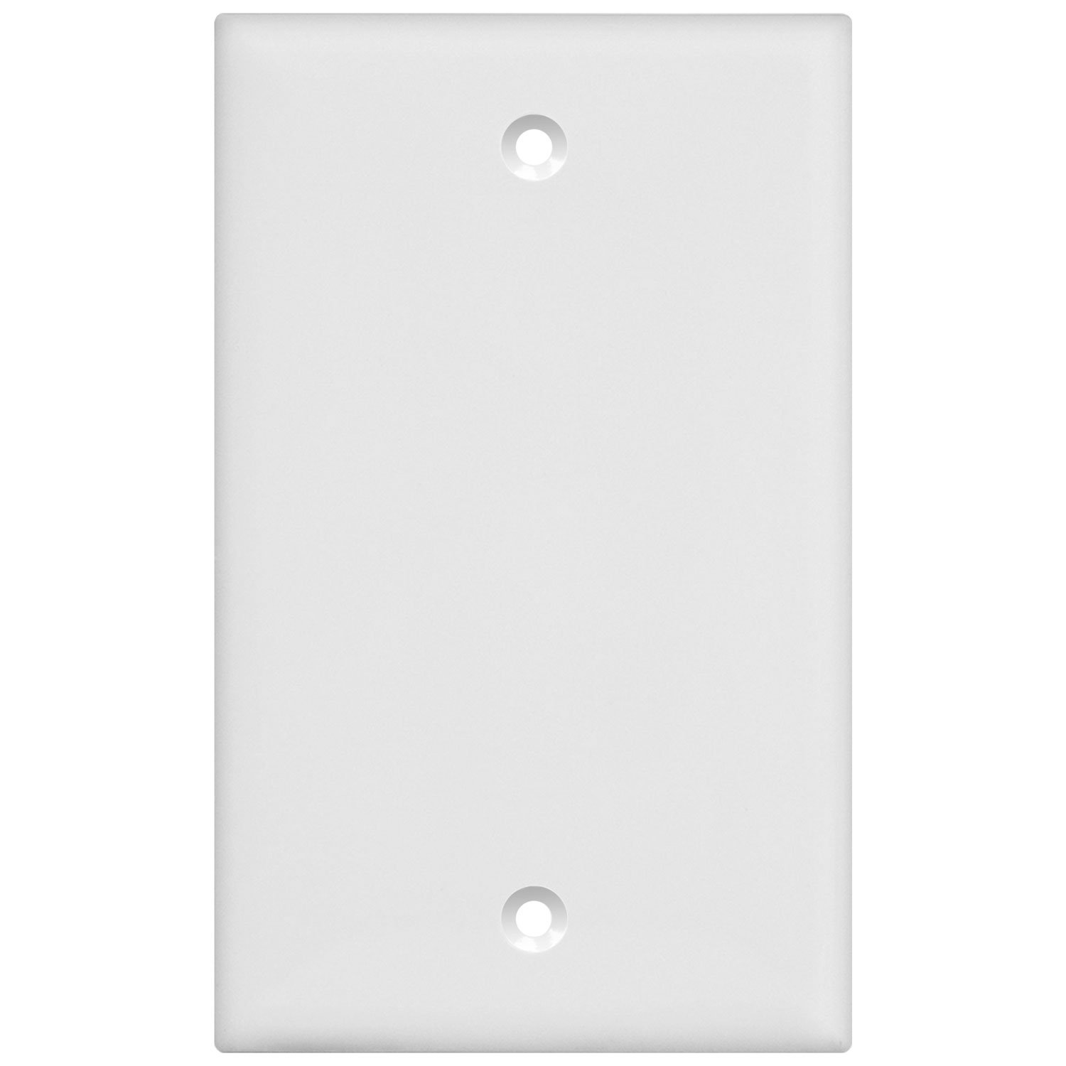 Enerlites 8801-W-10PCS Blank Cover Wall Plate, Standard Size 1-Gang, Polycarbonate Thermoplastic, White (10 Pack) by Enerlites (Image #9)