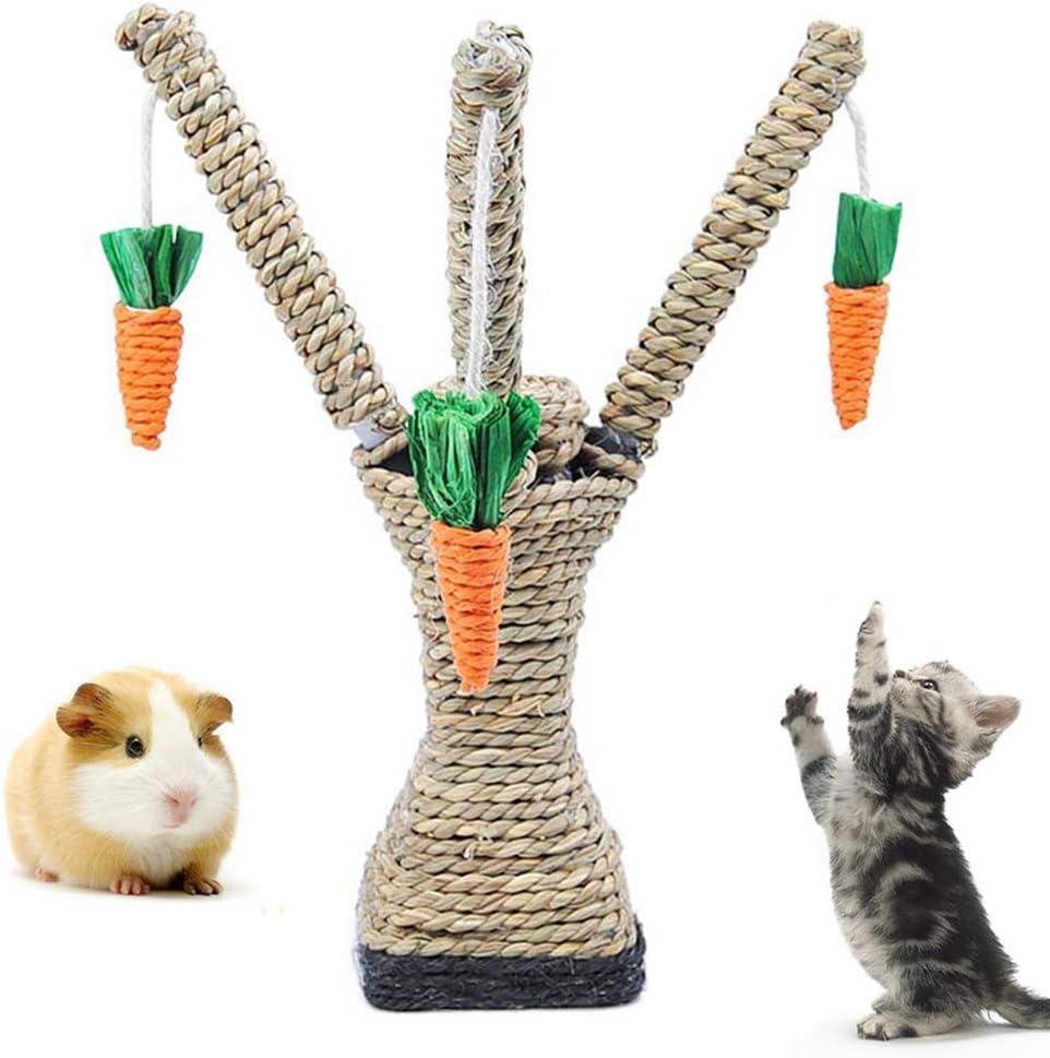Fliyeong Árbol rascador para Mascotas, Gato, hámster, Escalada, árbol de Zanahorias, Torre de estantería, árbol rascador, Juguete: Amazon.es: Productos para mascotas