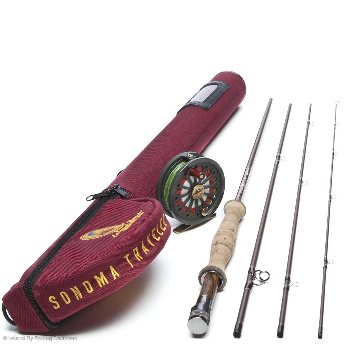 Leland Rod Company Sonoma Traveler Fly Fishing Combo (Professionally Rigged and Ready to Fish) by Leland Rod Company