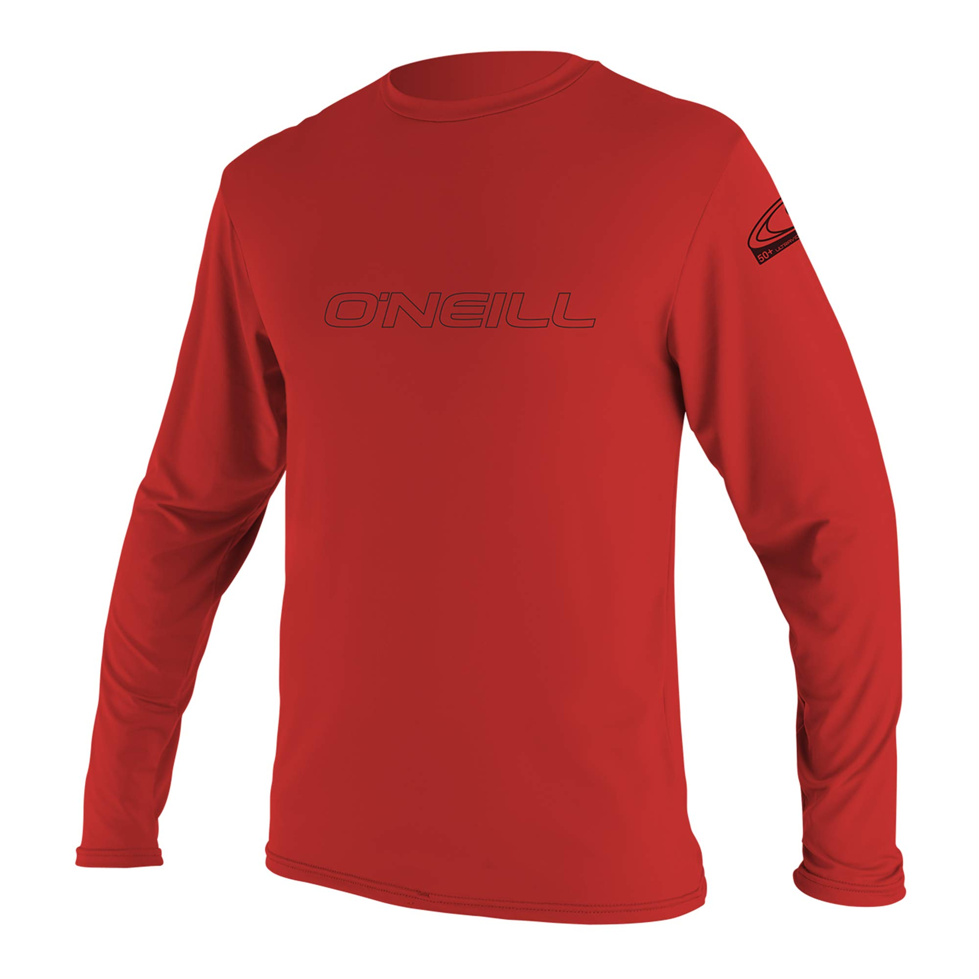O'Neill Wetsuits Youth Basic Skins UPF 50+ Long Sleeve Sun Shirt, Red, Size 4