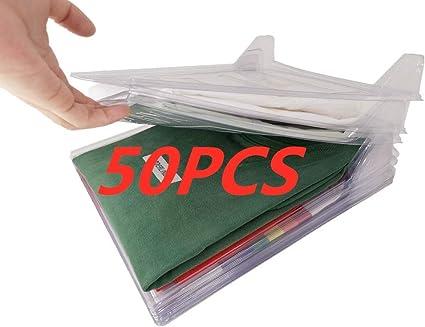 Nifogo Organizador de Armario el hogar Estantería Plegable Estante de Almacenamiento Organizador Plegable Apilamiento Camisas Camiseta Folder (50Pack)