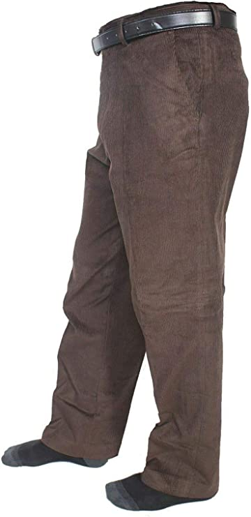 1940s UK and Europe Men's Clothing – WW2, Swing Dance, Goodwin New Mens Corduroy Cord Trousers Cotton Formal Office Smart Casual Big Plus Size Pocket Dress Pants £18.15 AT vintagedancer.com