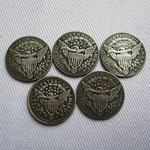 1796-1805 5PCS USA Draped Bust Half Dimes Coins COPY