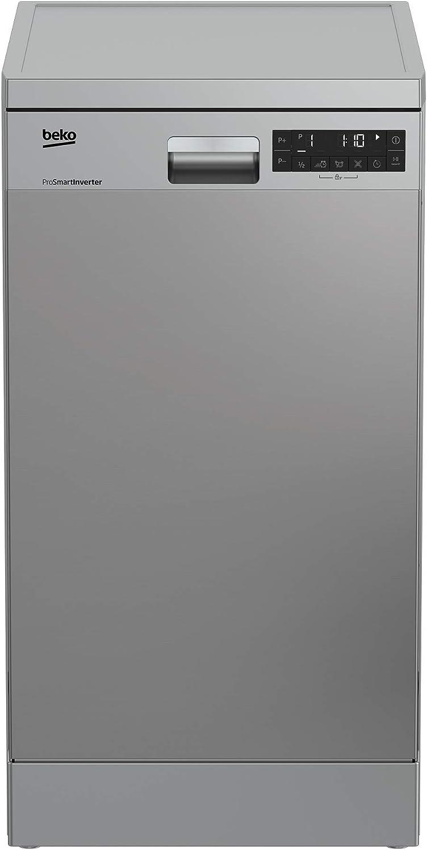 Beko DFS28021X lavavajilla Independiente 10 cubiertos A++ - Lavavajillas (Independiente, Acero inoxidable, Estrecho (45 cm), Acero inoxidable, Botones, Estático)