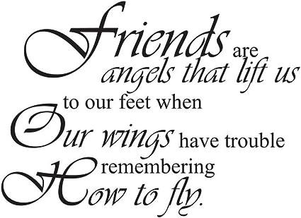 BELIEVE IN ANGELS FRIENDS WALL ART STICKER VINYL QUOTE