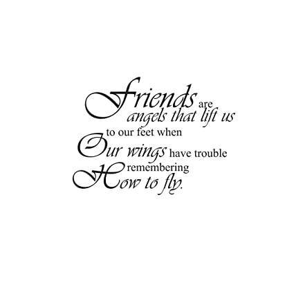 Amazon.com: Friends are Angels Friends Friendship Vinyl Wall Decal