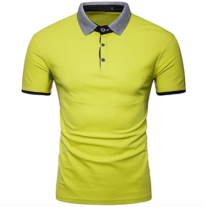 WSLCN Herren klassische Kurzarm Poloshirt T-shirt einfarbig Slim fit:  Amazon.de: Bekleidung