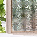 Window Film 35.4x78.7 Inches 3D Static Privacy Decoration Self Adhesive For UV Blocking Heat Control Glass Stickers