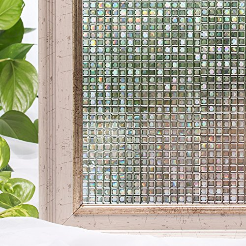 Window Film 23.6x78.7 Inches 3D Static Self Adhesive For UV Blocking Heat Control Privacy Glass Stickers by CottonColors