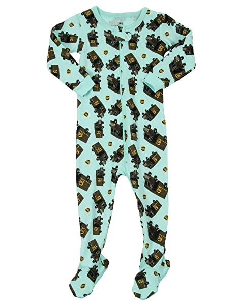 8da71660d Amazon.com  Leveret UPS Truck Baby Girls Boys Footed Pajamas Sleeper ...