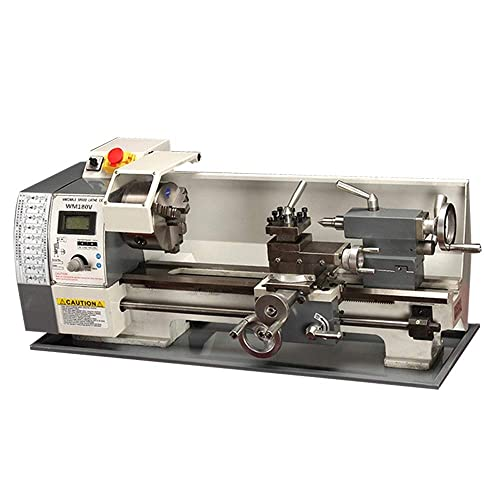 TECHTONGDA Brushless Motor Precision Mini Metal Lathe DIY Bench Lathe 110V