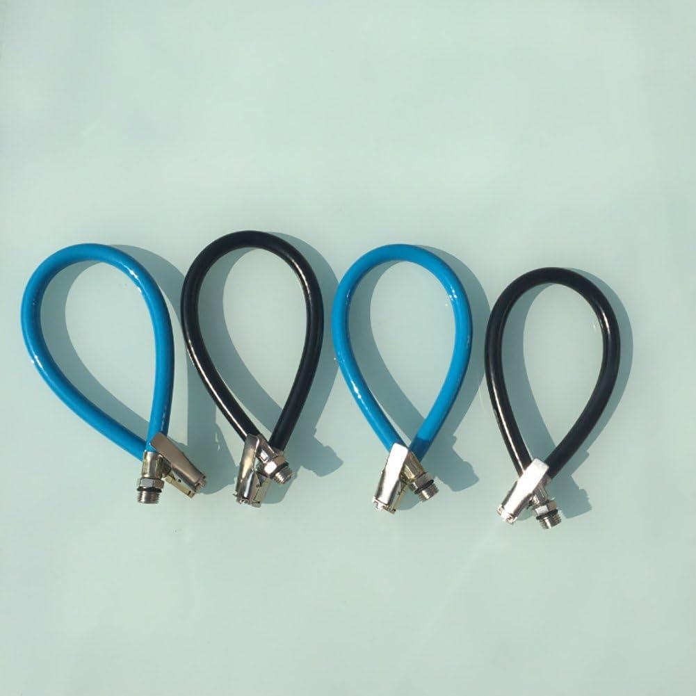 quanjucheer Pneu gonflable Tuyau dair pour voiture en caoutchouc pour v/élo de voiture Moteur Pince flexible on Air Pneu 37.5cm*1.25cm Noir