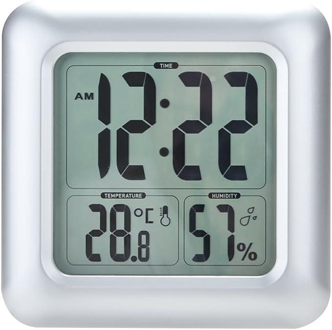 Anself - LCD Reloj con Medidor de Temperatura y Humedad ...
