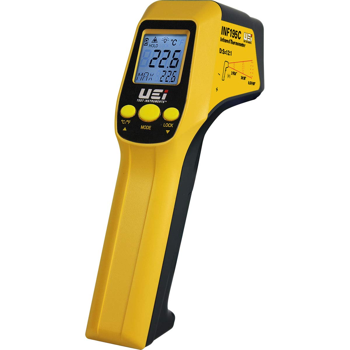 UEi Test Instruments INF195C Scout 2 IR Thermometer