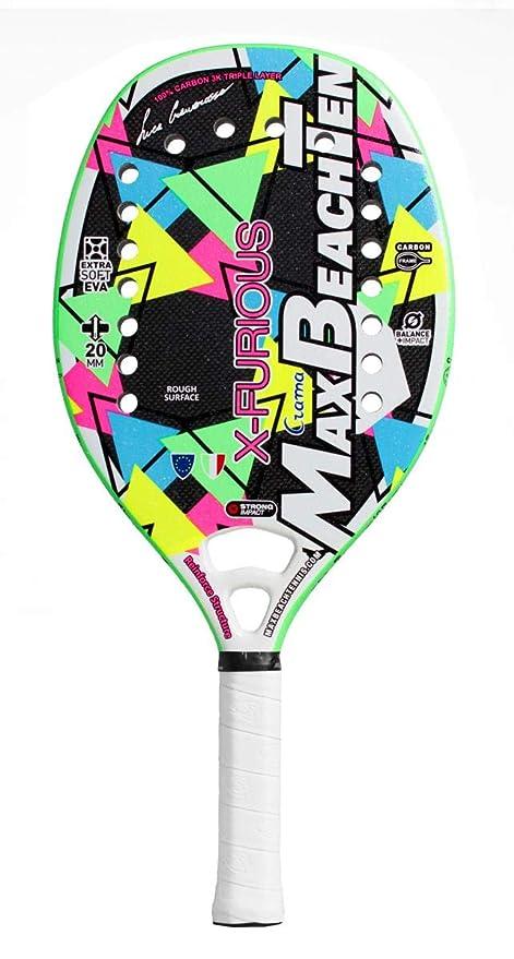 Amazon.com: Max Beach Tennis MBT Raqueta de tenis de playa X ...