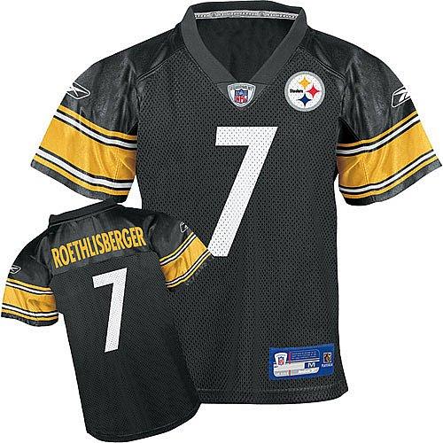 Reebok Pittsburgh Steelers Ben Roethlisberger Boys Replica Jersey Kids 4 Small