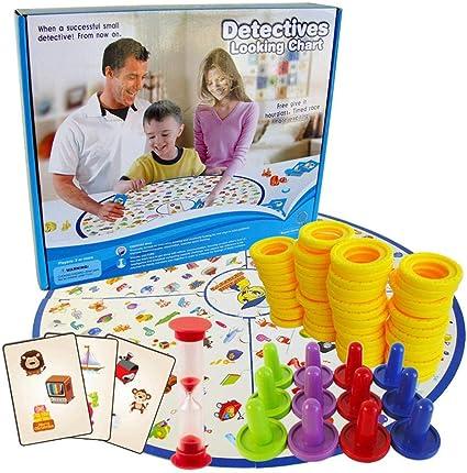 Brain Power Battle Pequeño Detective Buscando Niños Inteligencia Juegos de mesa Tarjeta educativa Observación Reacción Juego interactivo: Amazon.es: Bebé