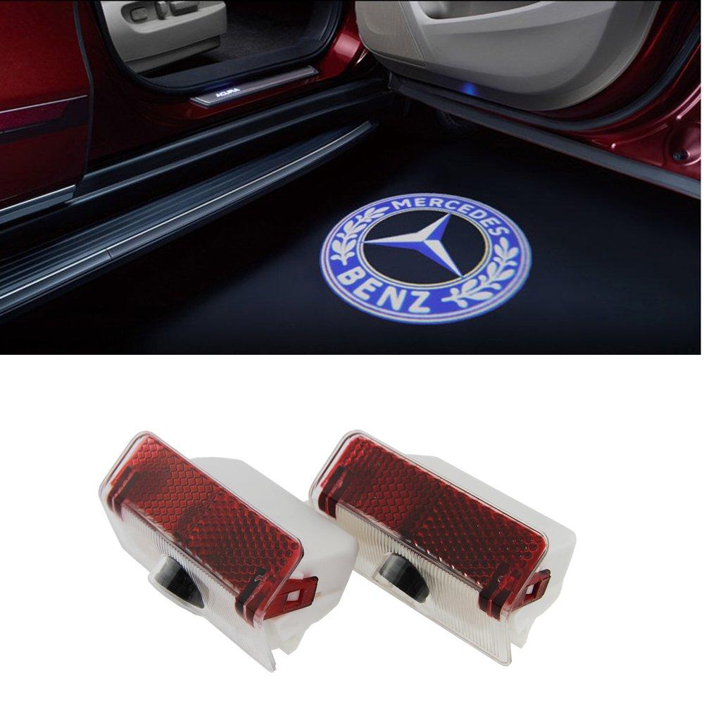 DEFOV Tü rbeleuchtung Einstiegsleuchte, Autotü r Licht 3D Logo (Benz E AMG logo)
