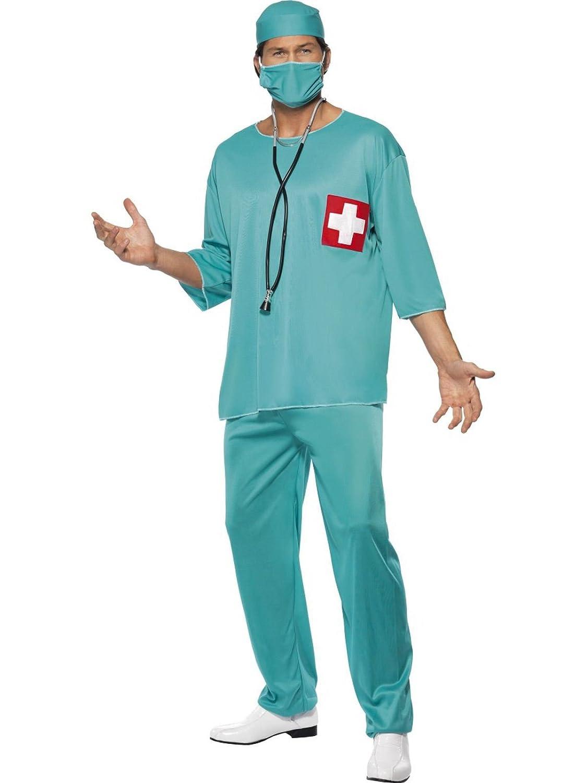 39977f505d6 Scrubs Doctors & Nurses Scrubs Surgeon Scrub Nurse ER Fancy Dress Costume M  L XL LARGE COSTUME & STETHOSCOPE