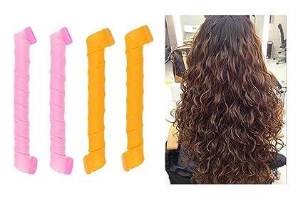 Ranvi rizadores de cabello, kit de estilo de rizos en espiral, 40 rizadores de