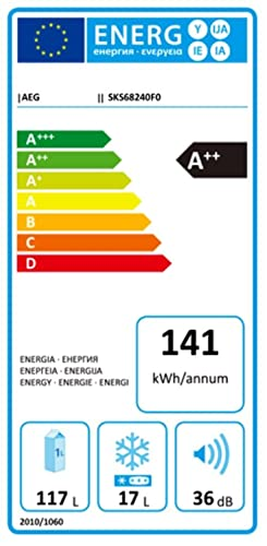 AEG SKS68240F0 - Nevera combi (Incorporado, Color blanco, Derecho ...