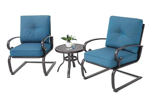 Incbruce Outdoor Bistro Set de 3 Piezas de sillones y Mesa ...