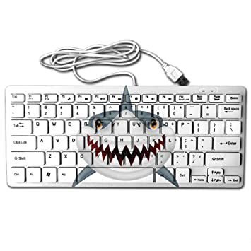 Scary Shark Mouth Open Mini Keyboard Wired Thin Light 78