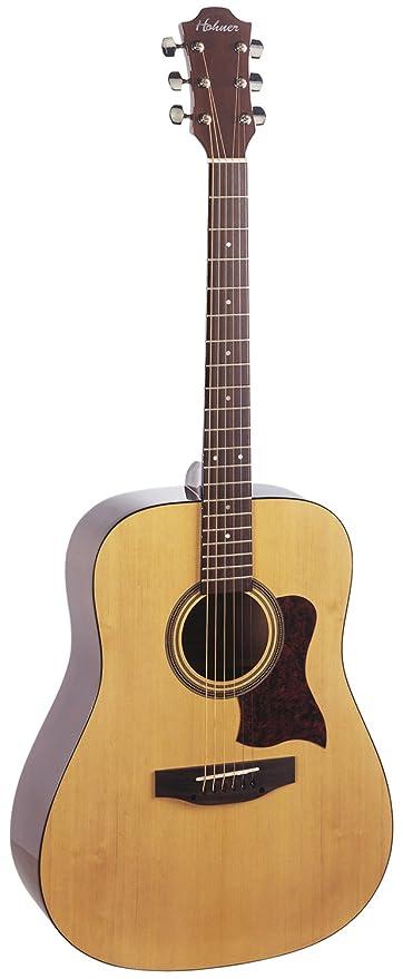 Amazon.com: Hohner hw350 dreadnaugh guitarra acústica de ...