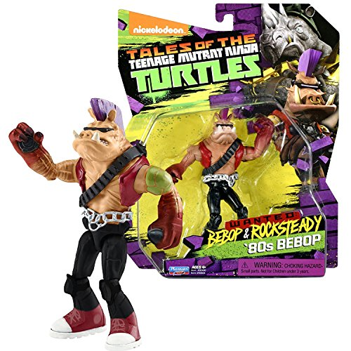 TMNT Year 2017 Tales of Teenage Mutant Ninja Turtles Wanted Bebop & Rocksteady Series 5 Inch Tall Figure - '80s BEBOP with Flash Bomb and Sticky Bomb