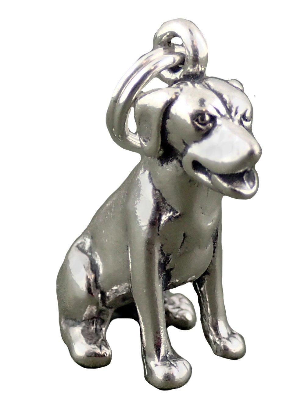 Corinna-Maria 925 Sterling Silver Sitting Labrador Retriever Dog Charm