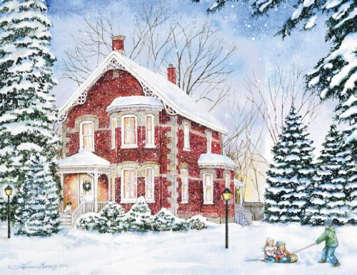 Lang 5.375 x 6.875 Inches Perfect Evening Solitude Boxed Christmas Card, 18 Cards with 19 Envelopes (1004740)