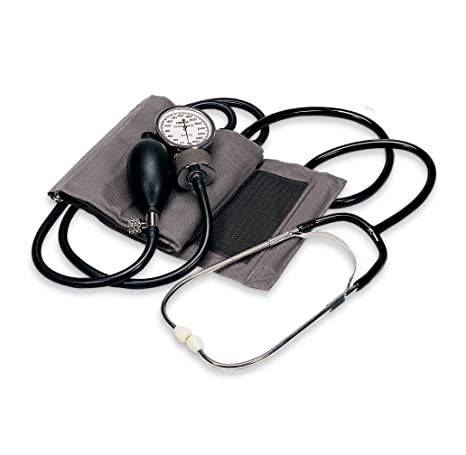 OMRON casa Manual Presión Arterial Kit, Gris