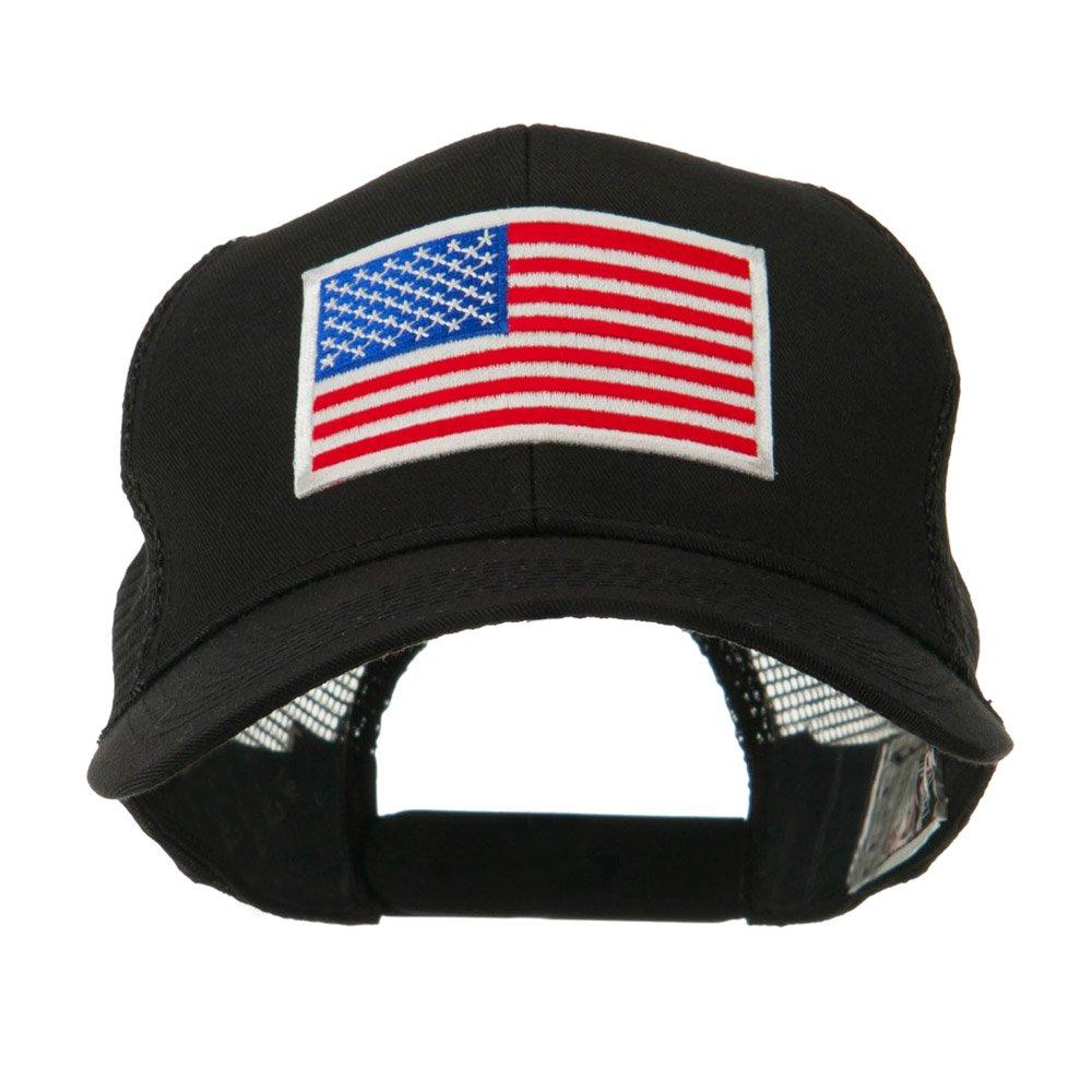 d0d65446342 6 Panel Mesh American Flag White Patch Cap - Black OSFM at Amazon Men s  Clothing store  Baseball Caps