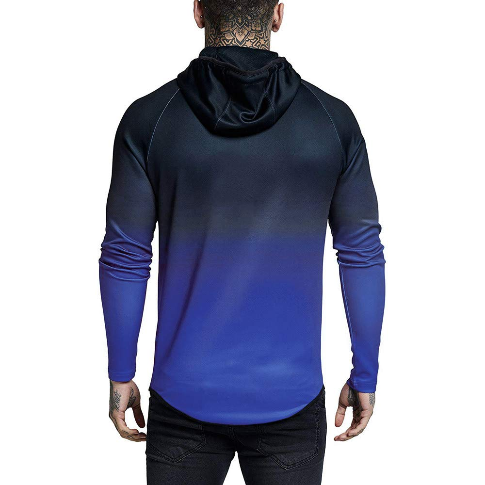 Amazon.com: Gradual Change Hoodie Sweatshirts BOOMJIU Mens Winter Casual Long Sleeve Tops with Full Zip: Clothing