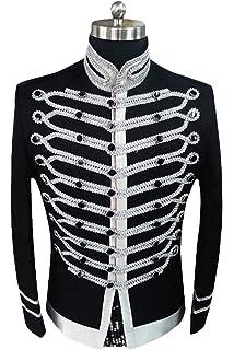 Amazon.com: Ro Rox Military Steampunk Hussar Parade Jacket ...