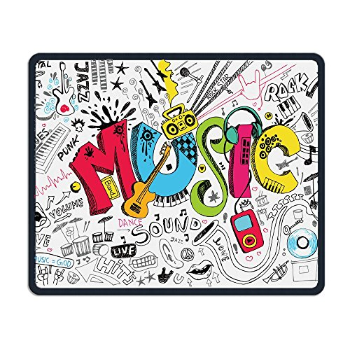 Music Smooth Nice Personality Design Mobile Gaming Mouse Pad Work Mouse Pad Office Pad -